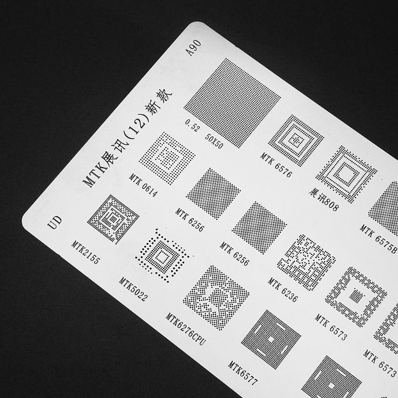 Kit de estêncil universal para reballing bga, 3 pçs para mtk samsung htc huawei android