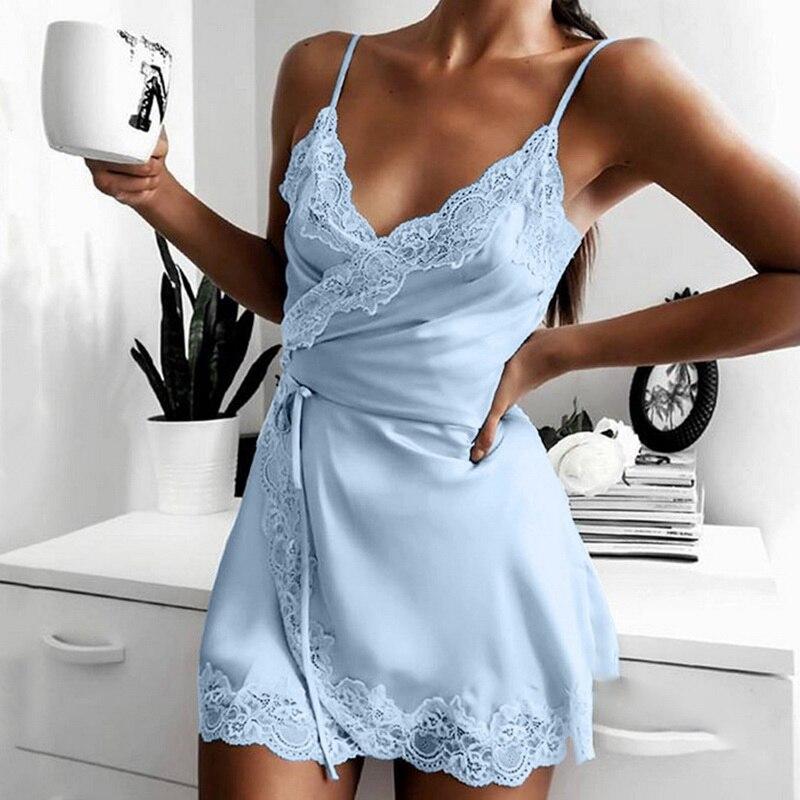 Conjunto de ropa de dormir para mujer, vestido de noche sin mangas,...
