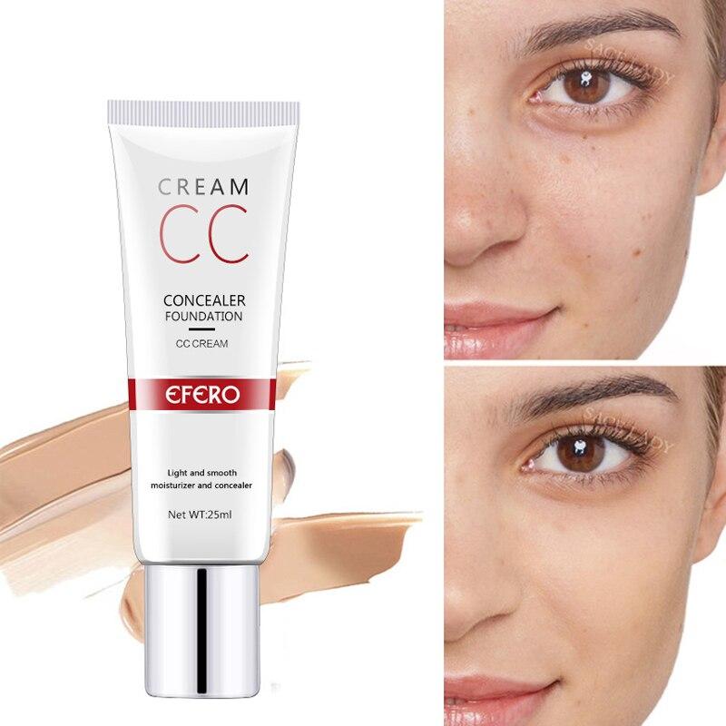 CC cream Face Care Natural Brighten Liquid Foundation Base BB Cream Makeup Brightening Concealer Cream Whitening Concealer недорого