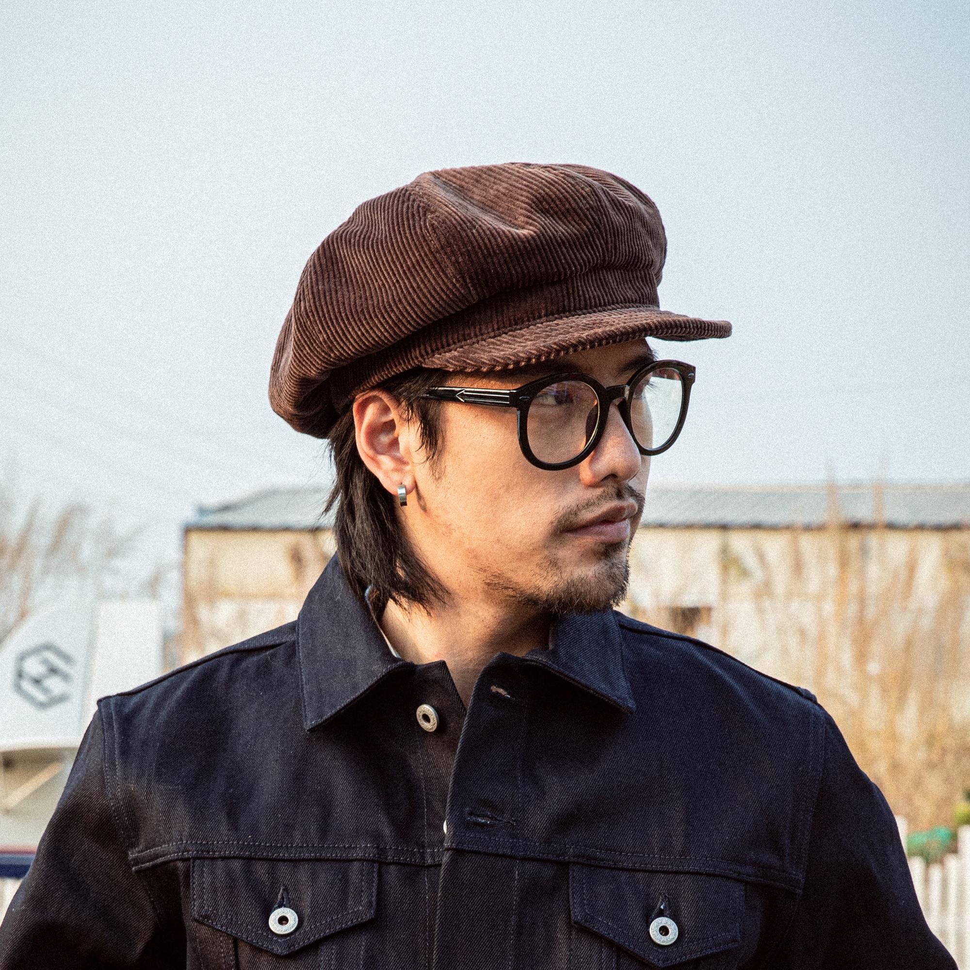 قبعة سوبر الكلاسيكية-0003 جودة خمر أنيق 100% غطاء سروال قصير القطن 2 الأحجام