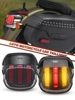 turning led taillight daytime running light led brake light for harley dyna road king softail touring motorcycle led taillamp