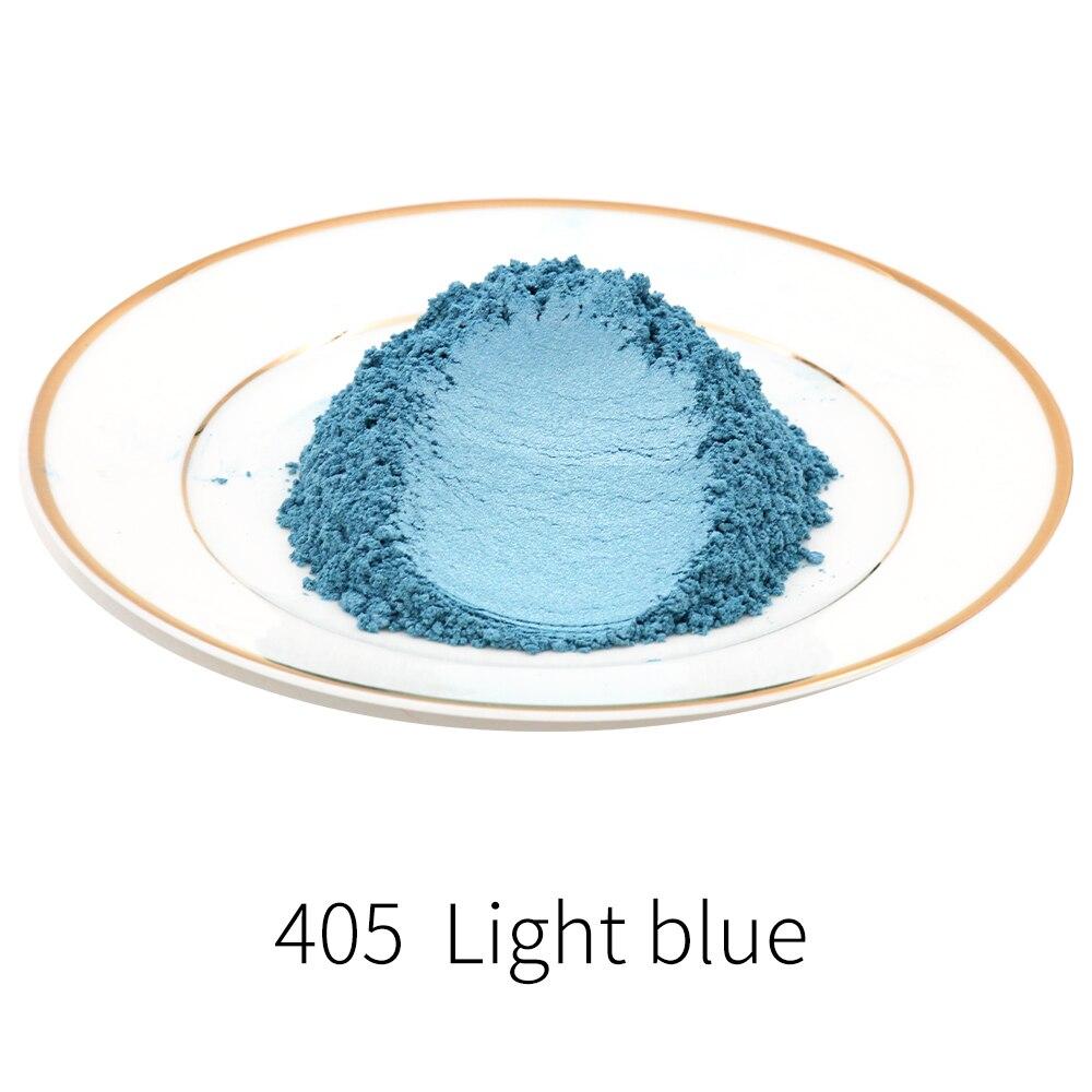 Tipo 405 polvo de perla Mica DIY Mineral colorante para teñido de polvo 50g para jabón sombra de ojos coches artesanía Ac