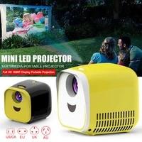 Mini projecteur Portable LED pour Home cinema  ecran HD 1080P  Interface USB HDMI carte TF  PUO88