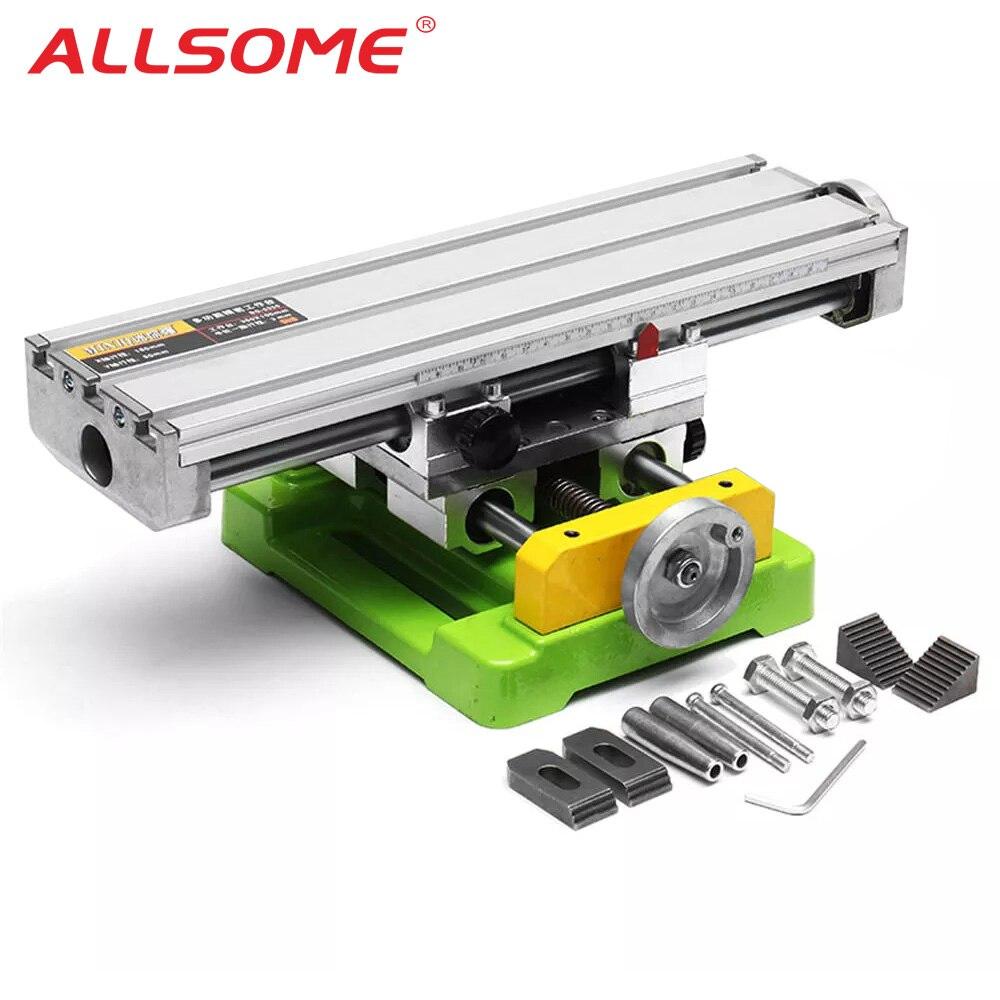 ALLSOME MINIQ BG6350 Multifunction Drill Vise Fixture Working Table Mini Precision Milling Machine Worktable HT2747