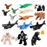 friends building blocks animal diy big size accessories figures shark gorilla panda compatible with all big size kids toys