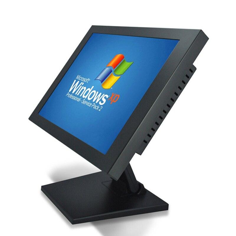 8.4 10.4 15 12 بوصة الصناعية شاشة ال سي دي مع VGA HDMI USB مقاومة شاشة تعمل باللمس عرض الجدول تقف التثبيت