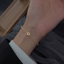 925 Sterling Silver Bracelet for Women New Trendy Light Luxury Minority Exquisite Circle Double Laye