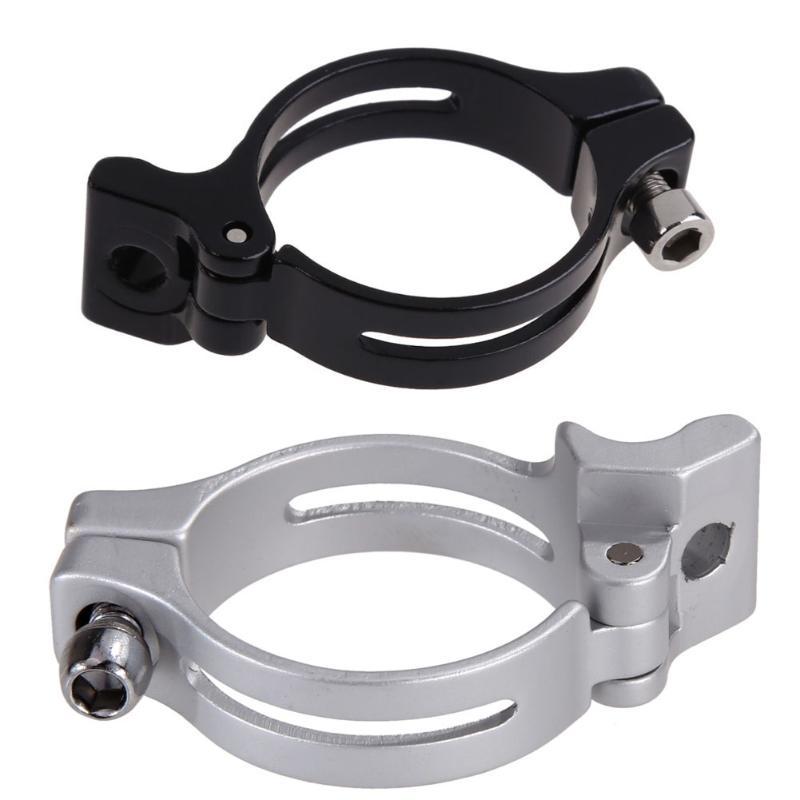 Clip de poste de bicicleta de carretera de montaña gris negro de 34,9mm para el bolso del sillín de la bicicleta abrazaderas de cambio