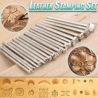 leather stamping tools set making tools carving leather craft stamps craft stamping solid metal printinting tool