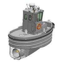 118 remote control ship model kit 3d printing hull port tug assembling childrens toy