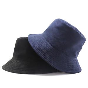 Reversible Suede Big Size Bucket Hat Lady Shopping Casual Boonie Cap Men Hiphop Plus Size Fisherman Hats 56-60cm 60-65cm