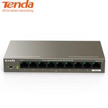 Tenda TEG1109P-8-102W Switch Gigabit POE Switch di rete ethernet 9*10 100 1000Mbps Porta RJ45 18Gbps Capacità di Commutazione plug Gioca