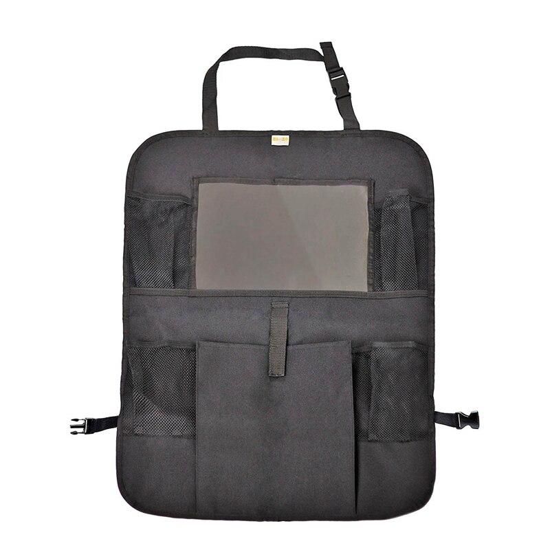 Organizador do assento traseiro do carro com suporte da tabuleta-bolso da tela da imprensa para tabuletas de android & ios até 10.5 polegadas-uso multiuso como