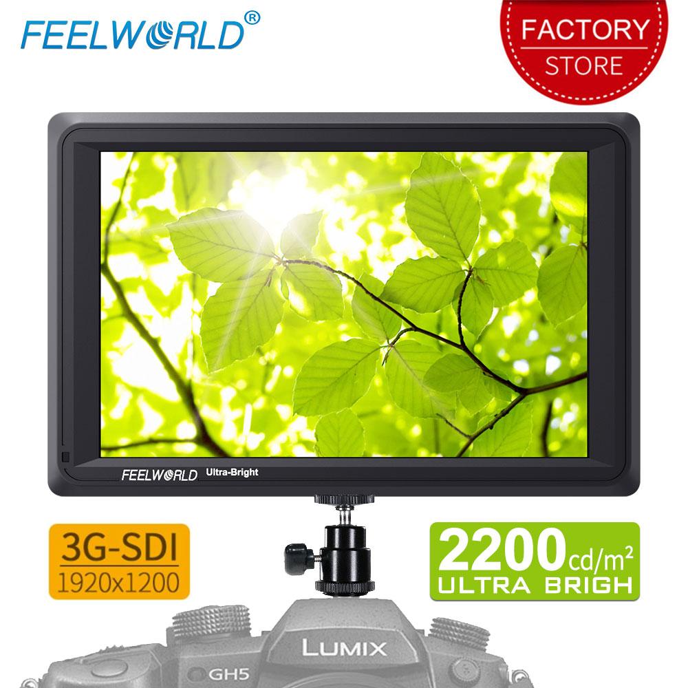 Feelworld FW279S 7 بوصة 3G SDI 4 K HDMI DSLR كاميرا جهاز المراقبة الميدانية جدا مشرق 2200nit كامل HD 1920x1200 LCD IPS ل في الهواء الطلق