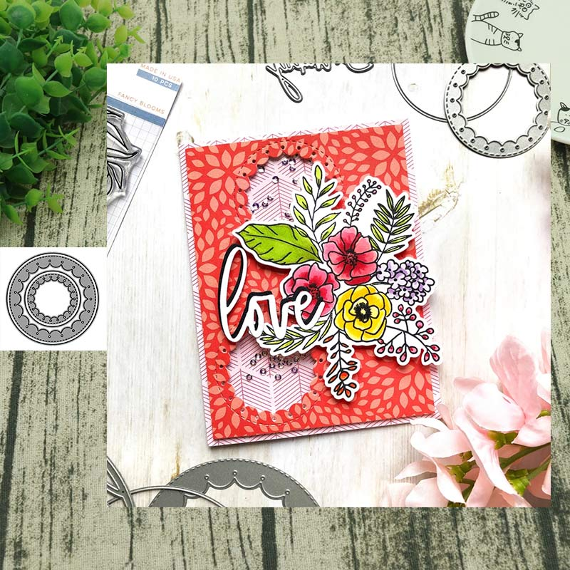 Metal Cutting dies Round lace Die Cut Scrapbooking Paper Craft Handmade Card Punch Art Cutter Decorative Stencil
