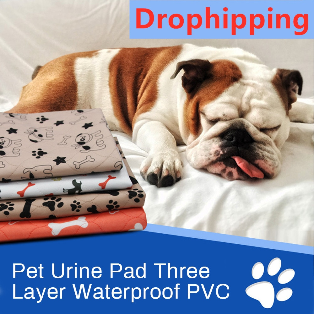 Waterproof Pet Pee Pads Mat Dog Bed  For Dog Urine Pads Puppy Pee Pad Reusable Cooling Mat Pet Dog Diaper Urine Pads