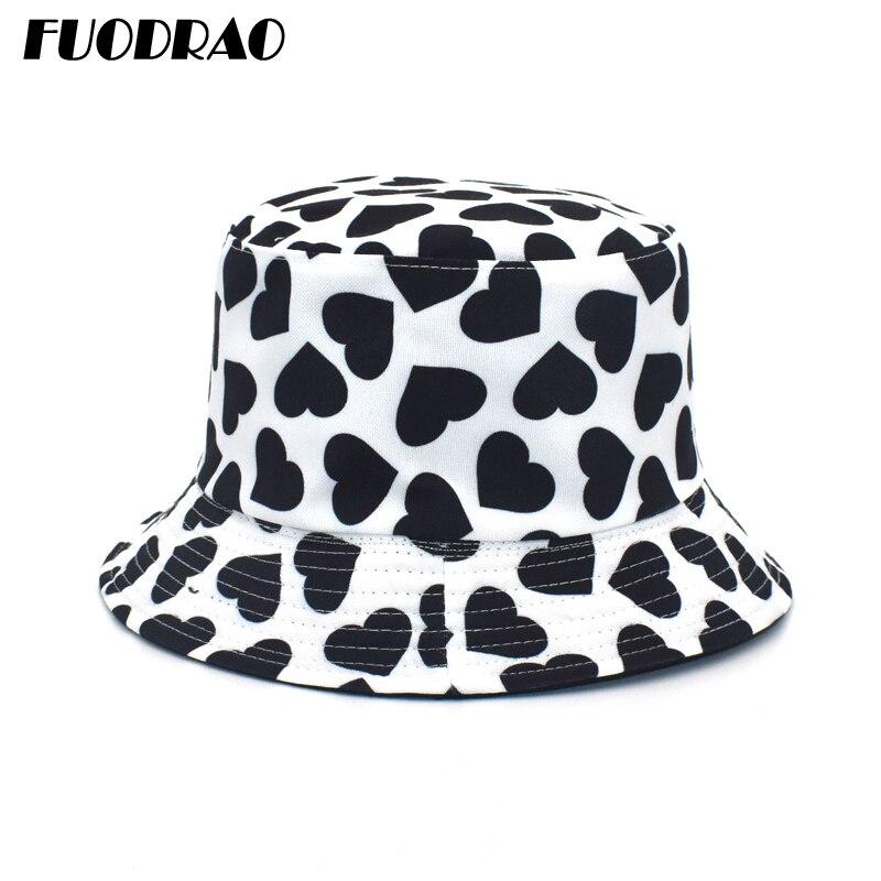 FUODRAO nouvelle mode impression seau chapeau réversible hommes Panama femmes Hip Hop casquettes en plein air décontracté pêcheur chapeau M114