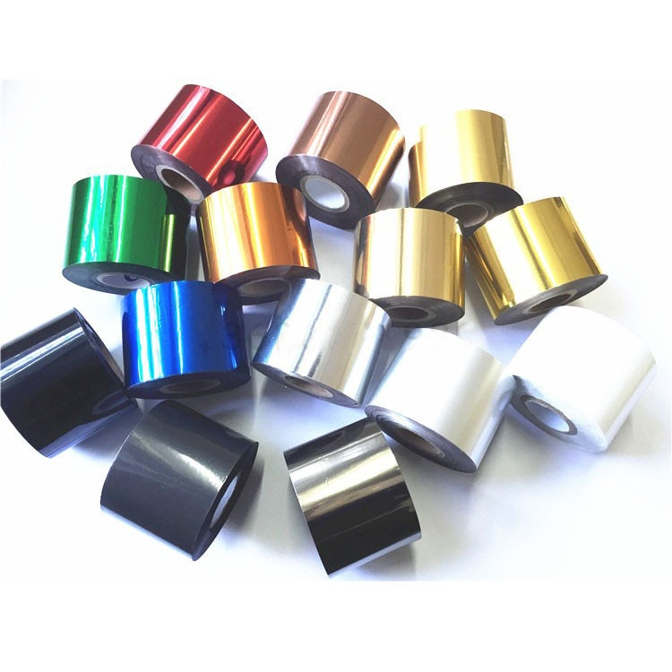 RCIDOS papel de aluminio para estampado en caliente, papel de aluminio láser, cuero, papel de aluminio para máquina de estampado de cajas de teléfonos móviles, rollo de 5cm de ancho