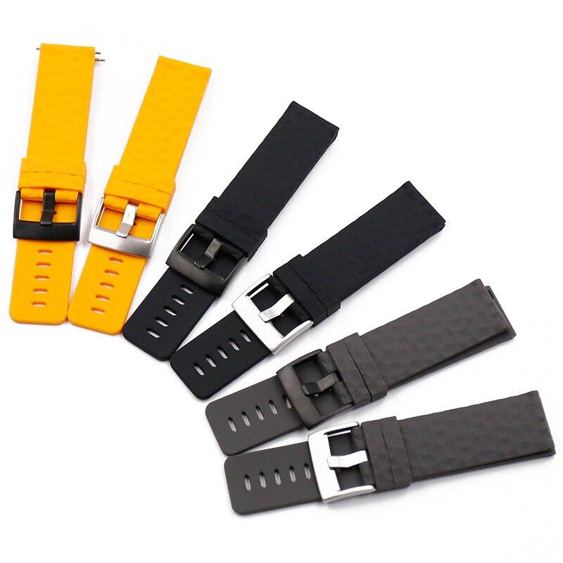 24MM Rubber Watch Strap For Suunto9 Spartan Sport HR Watch Band Suunto 9 Baro Quick Release Strap Traverse Silicone Watchband