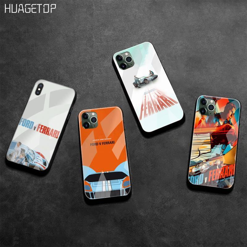 HUAGETOP ford v ferrari film étui pour téléphone verre trempé pour iPhone 11 Pro XR XS MAX 8X7 6S 6 plus SE 2020 étui