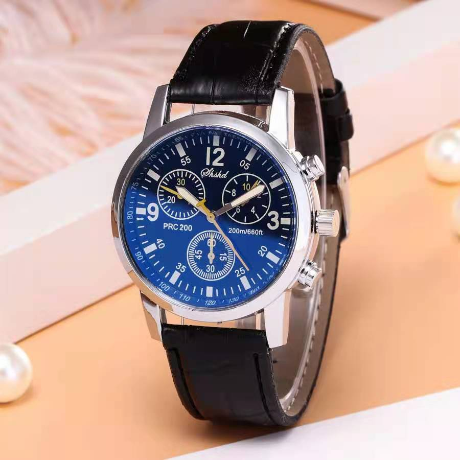 WOKAI Quartz Wristwatch Luminous Men belt Watches Classic Calendar Mens Business Steel Watch Relogio