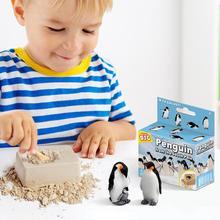 Crianças fóssil educacional diy mineração pinguim pirata tesouro jóias puzzle escavação arqueológica ciência brinquedo conjunto