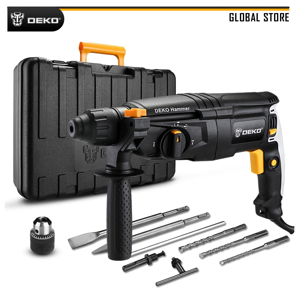 DEKO GJ181 220V 26mm AC Electric Rotary Hammer Four Functions with BMC Box, Accessories Impact Power