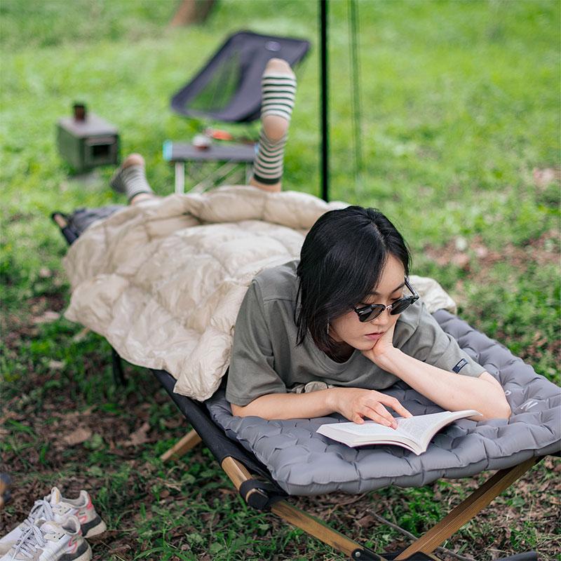 Naturehikedouble Airbag Mattress Inflatable Cushion Moisture Proof Pad Outdoor Mat Camping Tent Sleeping Mat NH19QD009