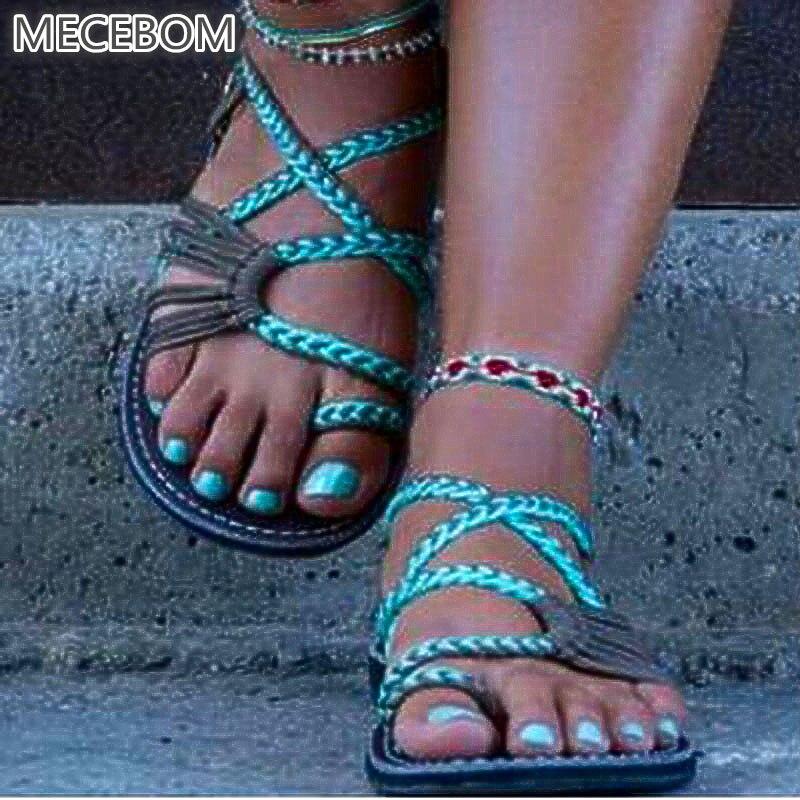 2019 Summer Gladiator Loafer Flip Flop Flat Heel Wedge Platform Sexy Beach Slipper Sandals Sandalias Women Zapatillas Mujer 459k