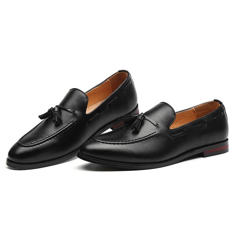 Осенняя стильная деловая небольшая кожаная обувь для отдыха мужская Корейская версия Молодежная Стильная мужская обувь