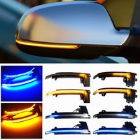 Прокрутки светодиодный динамический сигнал поворота светильник боковое зеркало мигающий светильник ретранслятор сигнала мигалка для Audi A3...