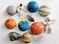 Planet Fridge Magnet Universe Creative Household Magnet Button Sticker Memo Photo Wall Cartoon Fridge Magnet Home Decoration