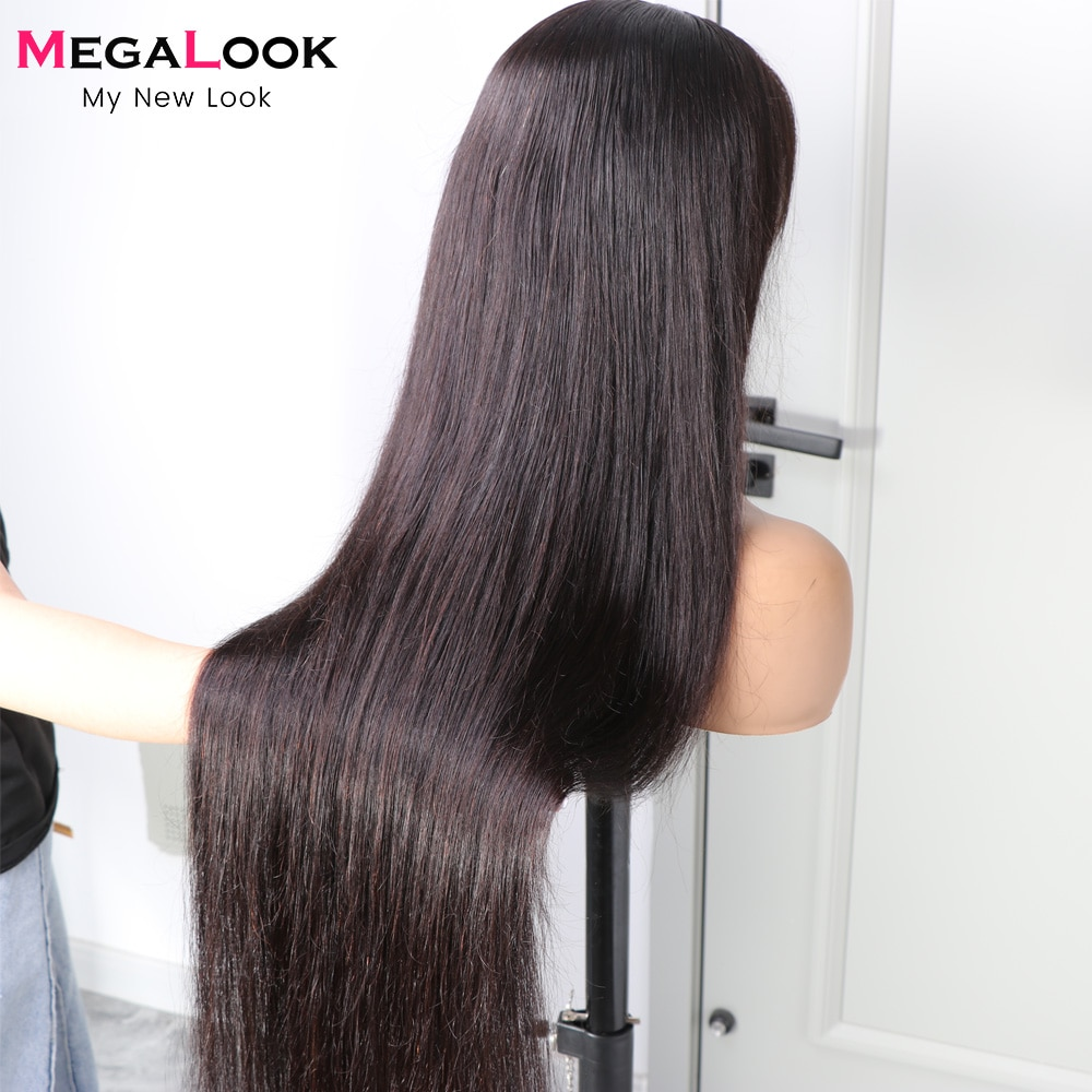 HD Transparent Lace Front Wig 13x4 13x6 Lace Frontal Wig 30 32inch 4x4 Closure Wigs For Women Straight Lace Front Human Hair Wig