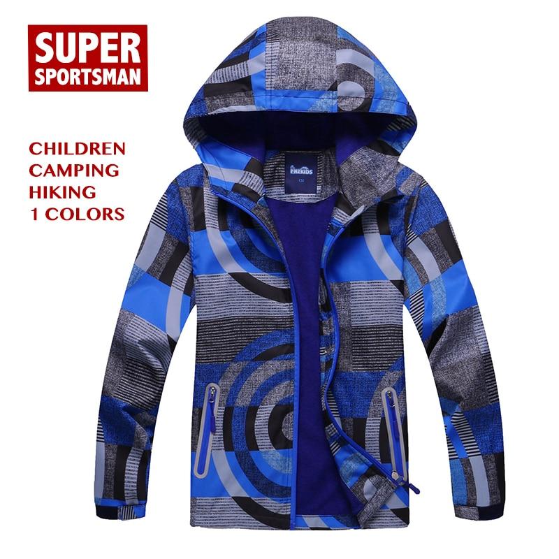 Chaqueta SoftShell impermeable de forro polar para niños, para caza, senderismo, rompevientos, esquí, lluvia, Camping, ropa de pesca