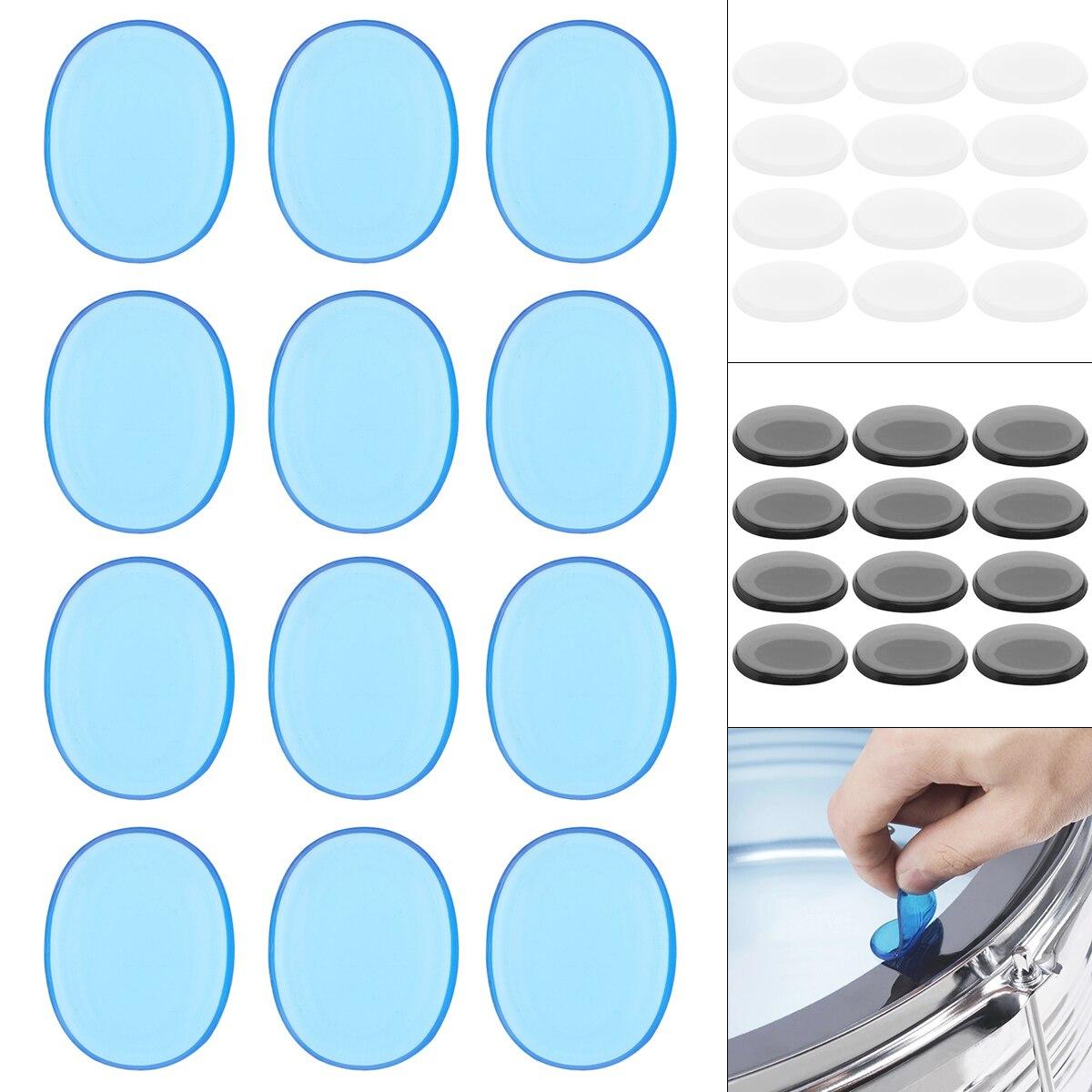 Lote Tambor Mudo Almofada Silicone Transparente Jazz Snare Silenciador 3 Cores Opcionais 12 Pçs –