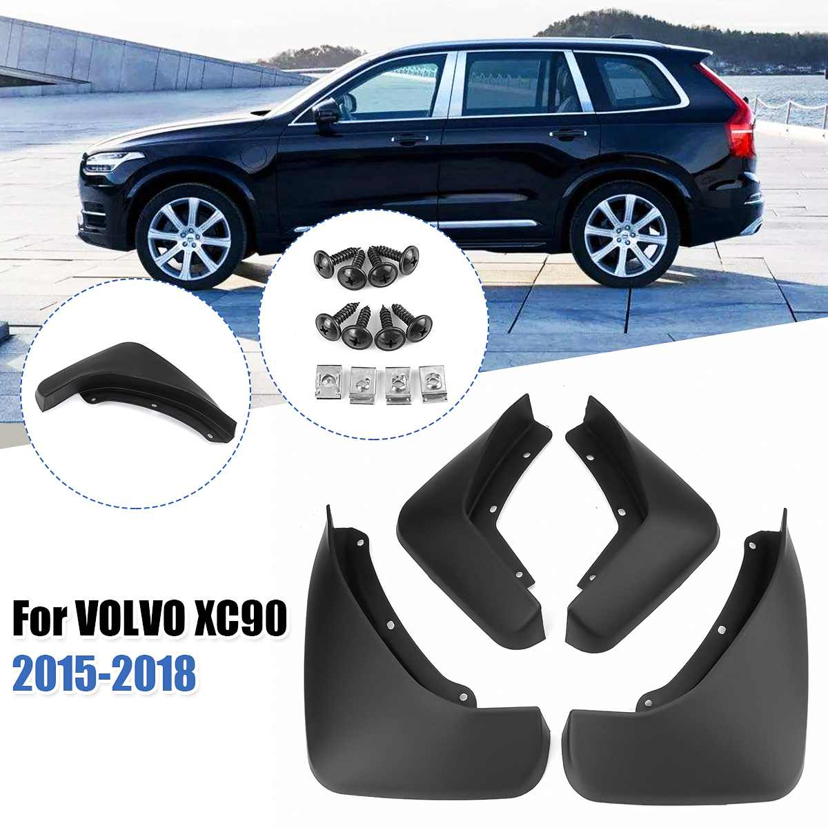 Передние и задние Автомобильные Брызговики, брызговики, щитки от грязи, брызговики для Volvo XC90 2015 2016 2017 2018 2019