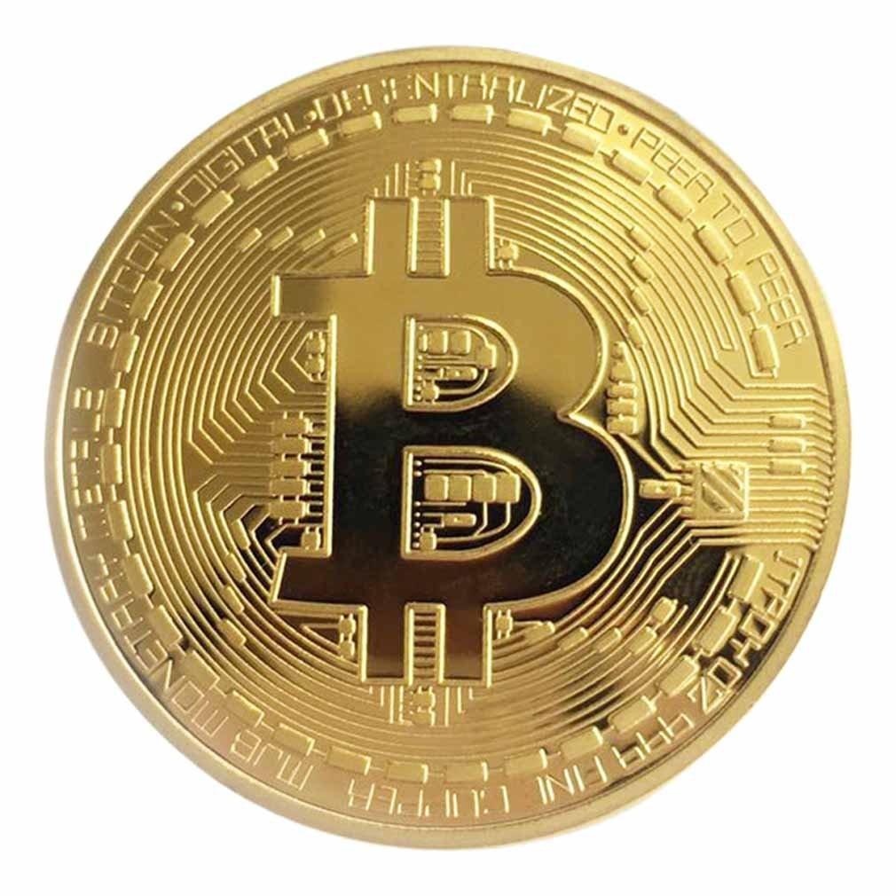 1PCS Creative Souvenir Gold Plated Bitcoin Coin Physical Gold Collectible BTC Coin Art Collection Physical Commemorative Gift недорого