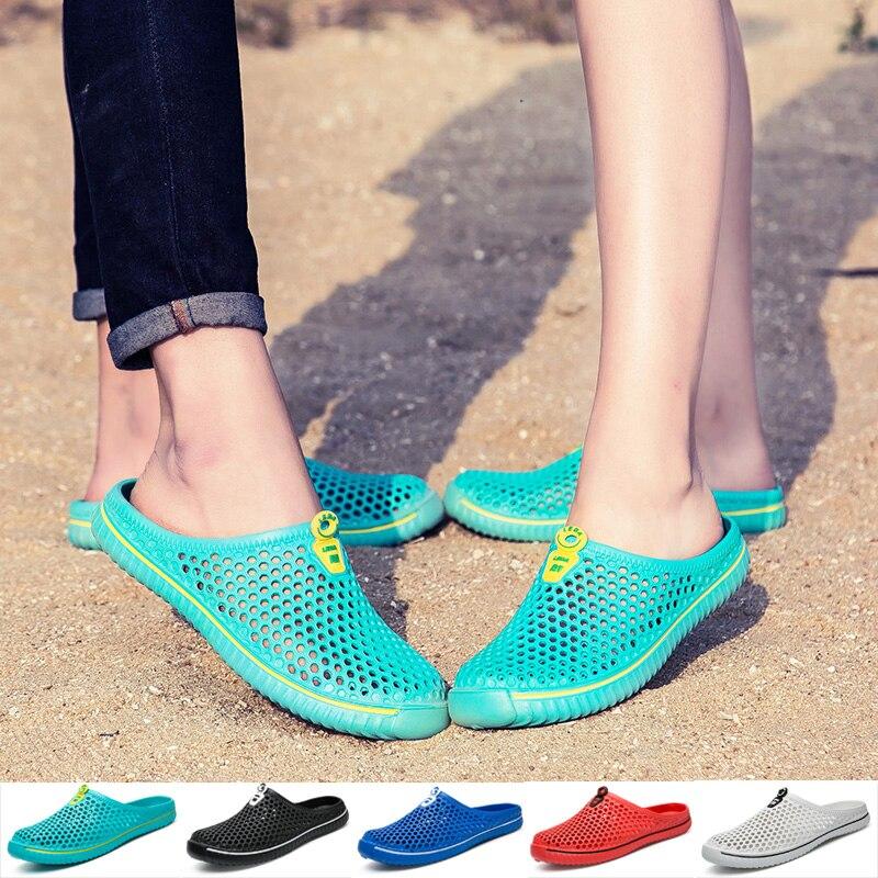 Newbeads Crocks Sandals Summer Men and Women Hole Shoes Garden Beach Flat Unisex Couple Casual Crocse Slippers