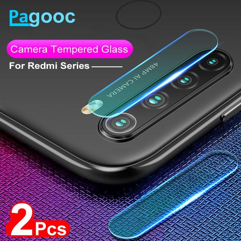 2 unids/lote lente de vidrio templado para Xiaomi Redmi Note 6 7 8 Pro 8T Cámara Protector de pantalla película protectora en Redmi 6 7 8 6A 7A 8A
