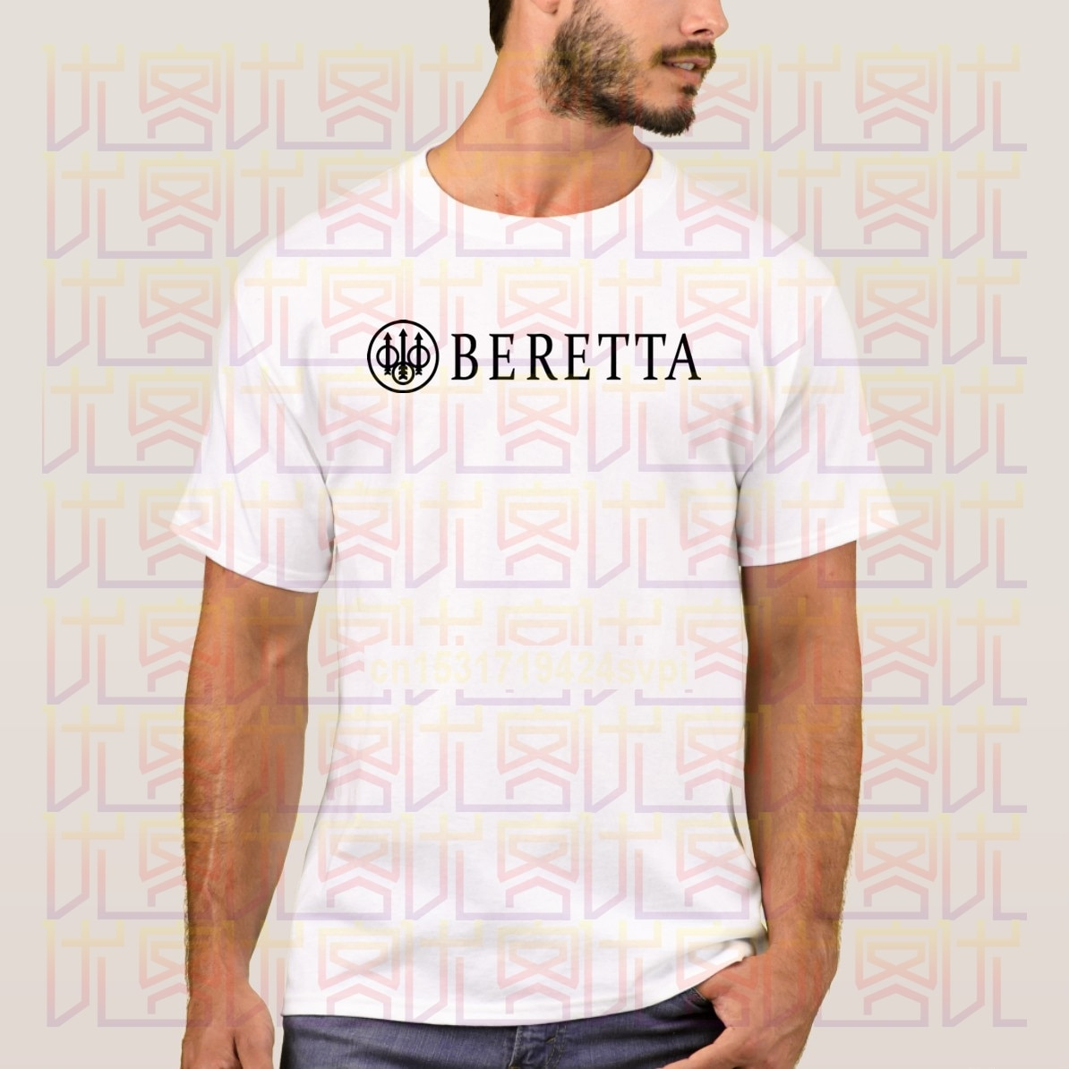 Novedosa camiseta de verano 2020 para hombre, ropa a la moda, camiseta Popular BERETTA negra con Logo de cuello redondo, 100% de algodón, camisetas para hombre, camisetas S-4XL