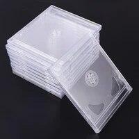 Etuis transparents 10 pieces  boites de rangement portables pour CD  paquets de bricolage pour Home Cinema Studio