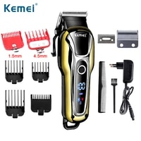kemei 1990 rechargeable clipper professional hair trimmer men electric shaver barber hair cutting machine haircut accessories