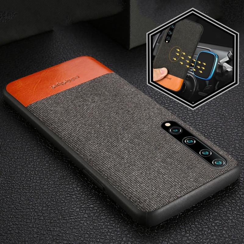 Canvas + Leather Magnetic Phone Case for Xiomi Mi 10 10 Pro 9 9T 9SE 8 Lite A3 a2 Cover For Xiaomi Redmi Note 8 Pro 8T 8 5 PLus