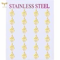 fgifter punk womens stud earrings snake earrings hollow eyes personality fashion jewelry golden stainless steel accessories