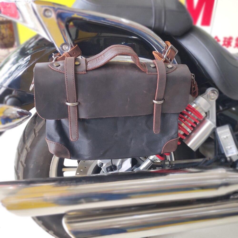 Bolso Clásico de la motocicleta de la locomotora Bolsa lateral caja lateral bolsa de equipaje de Bolsa lateral bolsa de cola bolso de hombro de Paulin bolsa de la Cámara MU-6068