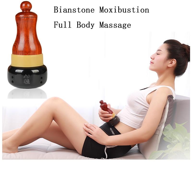 Bianstone Electric Gua Sha Massage Anti Cellulite Slimming Natural Massager Heating Guasha Massage Relax Muscle Health Care