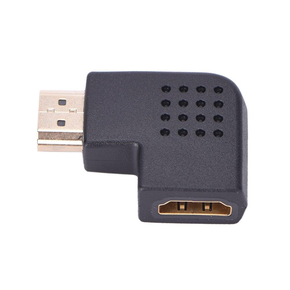 Ángulo izquierdo 90 grados macho a hembra 1080P HDMI HDTV Adaptador convertidor conector