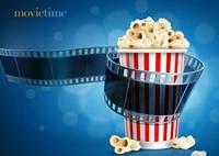 Affiche en soie imprimee de film de temps de cinema de Popcorn  decor mural de maison