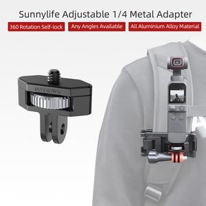 Image 1 - Металлический адаптер для крепления камеры регулируемый велосипедный фиксированный держатель зажим 1/4 винт для DJI OSMO Pocket 2 Insta360 ONE X2 аксессуары для камеры s
