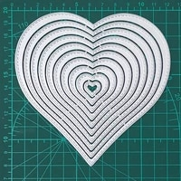 10 pcs heart frame metal cutting dies real picture cut die scrapbook paper craft knife mould blade punch stencils dies 2020 new
